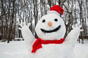 Build a snowman to beat the winter blues