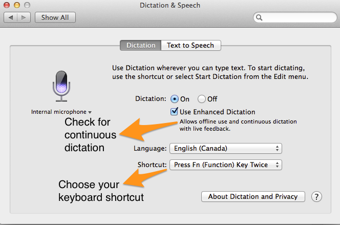 dictation on mac productivity hacks