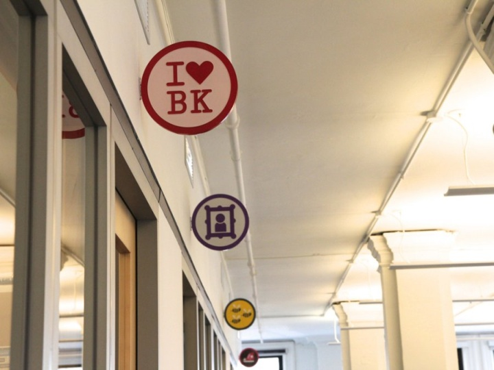 Foursquare office design badges