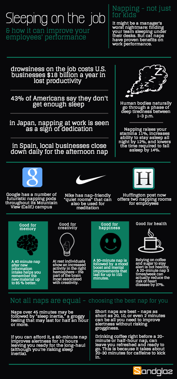 napping at work infographic